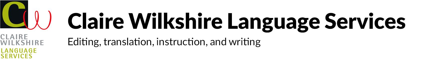 Claire Wilkshire Language Services Retina Logo